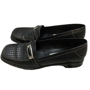 Brighton Joslyn Black Leather Loafers Shoes